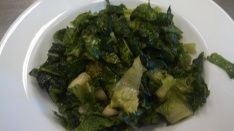 Marinated Parsley and Kale salad